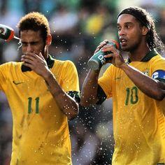 Neymar and Ronaldinho  Brazil national football team