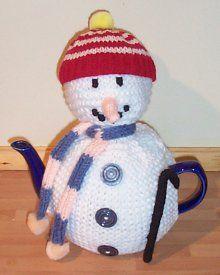 Frosty the Snowman Tea Cozy | AllFreeKnitting.com