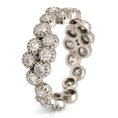 Fiori Diamond Set Full Eternity Cluster Ring - rings
