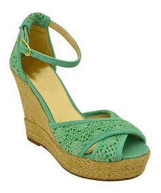 bddebfe0e8fc This Mint Kenzie Wedge Sandal by Twisted is perfect!  zulilyfinds Ankle  Strap High Heels