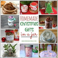 Homemade Christmas Gifts in a Jar | Homemadeforelle.com  #Christmas #gifts