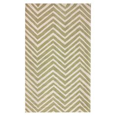 Hand-hooked wool rug with a chevron motif.  Product: RugConstruction Material: 100% WoolColor: G...