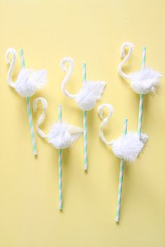 rather clever.    swan straws {abby hunter for shop sweet lulu}