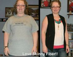 """My name is Kristan and this is my latest update!  30 lbs gone! and 3 sizes down! I feel great and am so proud of myself!   Love Skinny Fiber!"""