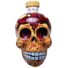 Day of the Dead inspired tequila. #sugarskull #tequila