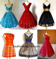 Beautiful dresses made frm sarees!