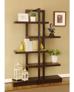 Cappuccino Tiered Bookshelf
