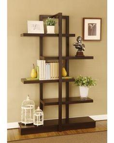 Cappuccino Tiered Bookshelf