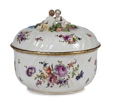 Hand Painted Soup Tureen Italy | ... tureen german 19th century a hand painted covered tureen with figural