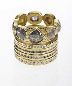 Stack of rings. Who doesn't love Todd Reed?  Stunning!
