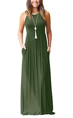 30fe1be20ac RBwinner Women s Short Sleeve Maxi Dress With Pockets Plain Loose Swing  Casual Floor Length Long Dresses