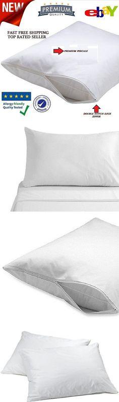6 new 20/'/'x 29/'/' t180 twin pillow cases hotel grade premium percale bright white