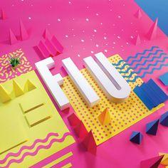 Pieza realizada para el FIU BOOK, utilizando la cartulina como materia prima, composiciones llenas de color, geometría y fuerza.