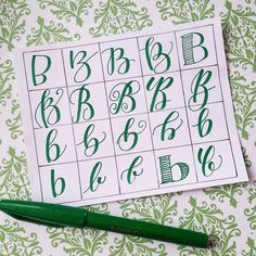 20 ways to write the letter B by @letteritwrite • see also the video of her writing the letters