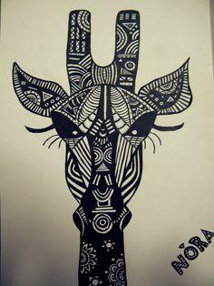 Mandala Giraffe