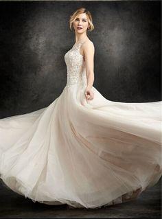e53a3af48a Ivory Lace Wedding Dress Word Shoulder Floor-Length Wedding Dress Open Back Bride  Dress US