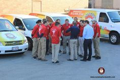 Team huddle before kicking off a fantastic day. Happy Monday Chicago! #locksmith #locks #security #home #auto #emergency #Chicago — at Nonstop Locksmith.