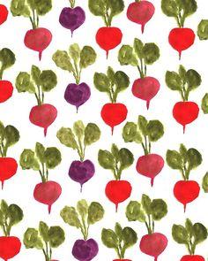 Radishes. #pattern #illustration