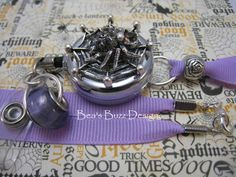 VIOLET FANGS  Retractable Badge Reel  Designer by BeasBuzzDesigns, $22.00