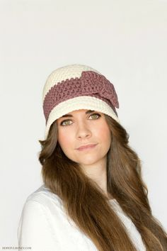 Downtown Abbey Inspired Crochet Cloche #Hat Pattern for Sale from Hopeful Honey