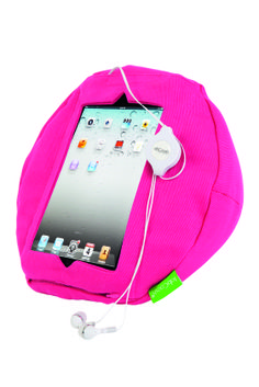 At work or play, keeping your iPad safe and secure is a must! Our amazing range of tabCoosh Tablet Comfort products combine practicality, comfort and good looks.  This tabCoosh tablet holder in Pretty in Pink, features a soft cushion that not only feels amazing but angles the tablet to relieve strain on wrists and arms. Available at Howards Storage.