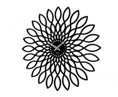 PRESENT TIME: Reloj de pared en madera DM Mini girasol – negro