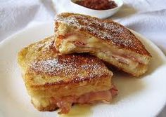 If you haven't eaten yet try this Monte Cristo sandwich – it's delicious and easy to make ! For making this delicious Monte Cristo sandwich you will need 15 minutes. Read the full article. Monte Cristo Sandwich, Best Sandwich, Sandwich Recipes, Tapas, Dip, Good Food, Yummy Food, Yummy Recipes, Sauce Recipes