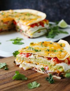 Super Stacked Quesadilla Pie from SoupAddict.com