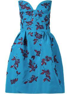 Oscar De La Renta Embellished Strapless Dress - Julian Fashion - Farfetch.com