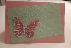 Biglietto fatto a mano con farfalla