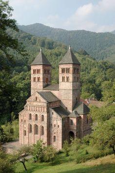 Iglesia de St. Leger, en la abadía benedictina de Murbach, Alsacia.: