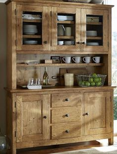 beautiful wooden dining hutch http://rstyle.me/n/kpdudr9te