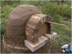 step by step DIY brick pizza oven