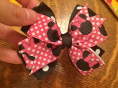 Stacked minnie mouse hair bow. https://www.etsy.com/listing/229252883/pink-minnie-mouse-stacked-big-girl?ref=shop_home_active_1