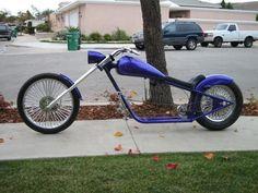 New custom bike chopper bar ideas Urban Bike, Moto Bike, Motorcycle Bike, Bike Chopper, Cool Bicycles, Cool Bikes, Bike Cart, Powered Bicycle, Lowrider Bicycle