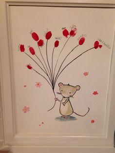 #babyshower #mummy #guestbook #mouse #ballons #love #idea