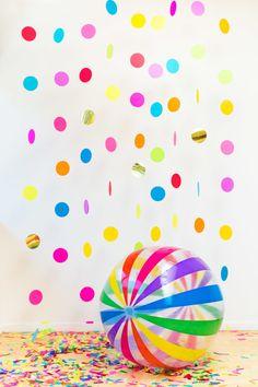 DIY Confetti Backdrop