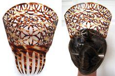 Very Large Antique Spanish Faux Tortoiseshell Mantilla Hair Comb Peineta 1900 30 | eBay