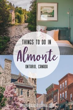 "Almonte, known as ""The Friendly Town,"" encapsulates everything about small-town charm found in Ontario. Discover the best things to do in Almonte, Ontario for a summer weekend. Tahiti, Bora Bora, Quebec, Travel Guides, Travel Tips, Travel Checklist, Travel Info, Travel Hacks, Vancouver"