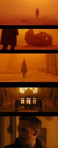 Blade Runner 2014. Production design by Dennis Gassner & cinematography by Roger Deakins.