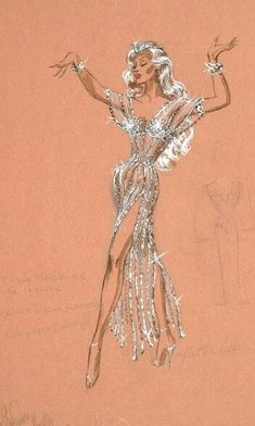 Esquisse et Croquis - Edith Head - Costumière à Hollywood - Marilyn Maxwell… Illustration Mode, Fashion Illustration Vintage, Fashion Illustrations, Mode Hollywood, Vintage Hollywood, Fashion Art, Vintage Fashion, Fashion Design, Fashion Trends