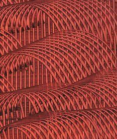 Kleisterpapier mit Verdrängungsdekor, hergestellt von Renè M. Salmen