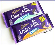 Cadbury Oreo Bars..Mint and Peanut Butter