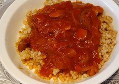 Chana Masala, Risotto, Bacon, Grains, Ethnic Recipes, Fimo, Seeds, Pork Belly, Korn