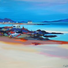 Scottish Artist Pam CARTER - On the Rocks