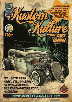 Kustom Kulture Art Show Flyer (rebelyellgallery.com)