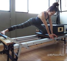 The move of of the day!  Kneeling Side Split Stretch. Try it! www.mypilates-place.com  #mypilatesplace