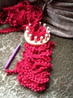 Sjaal op de kleine breiring punniken