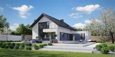 Projekt domu HomeKoncept-02 159,77 m2 - koszt budowy - EXTRADOM Modern Bungalow Exterior, Bungalow House Design, Modern House Design, House Layout Plans, Modern House Plans, House Layouts, My Ideal Home, Cottage Plan, Home Design Plans