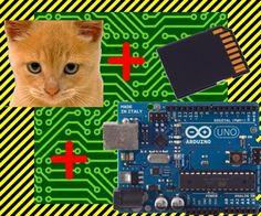 Cat data logger  an Arduino Uno a Parallax PIR Motion Sensor and a Seeed Studio SD Card Shield   Arduino, shield, sd card, logging shield, storage, logger  Ch...